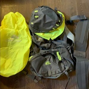 Ozark Trail backpack pkg w/hip belt & rain cover